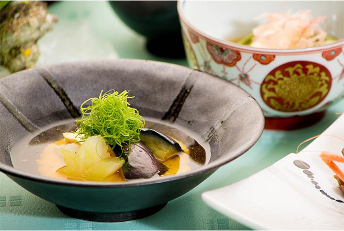 綾部 ゆう月 夏 夏休み お盆 会席料理 お祝い 賀茂茄子 湯葉