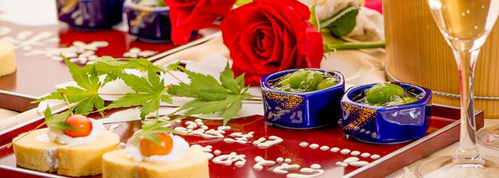 ゆう月 会席料理 懐石料理 お祝い 慶事 誕生日 デザート ケーキ
