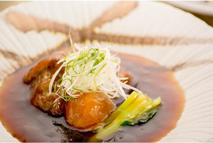 京都 綾部の料亭 ゆう月 9月 会席料理 会席料理 豚の角煮 京丹波高原豚 温泉玉子