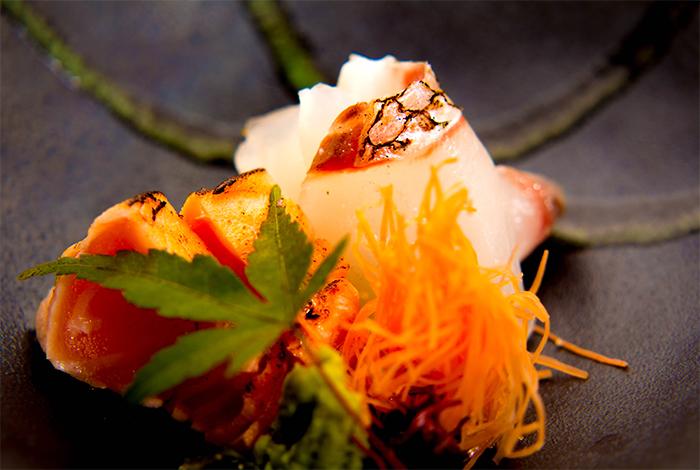 綾部 料亭 ゆう月 会席料理 懐石料理 紅葉 行楽 忘年会 秋 真鯛 熟成 鮭
