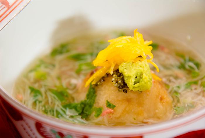 冬の会席料理 2月 海老芋まんじゅう 京野菜