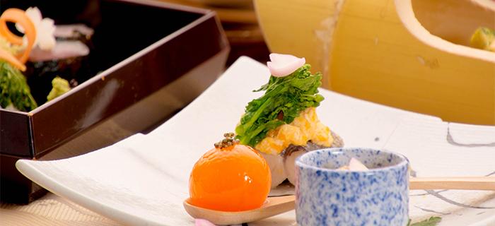 綾部の料亭 ゆう月 春の会席料理 焼き魚 さわら 玉子の味噌漬け