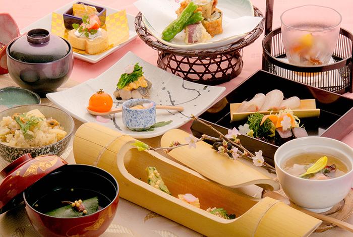 綾部の料亭 ゆう月 春の会席料理 山菜 筍