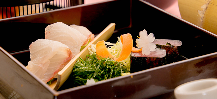綾部の料亭 ゆう月 春の会席料理 熟成 マグロ 刺身