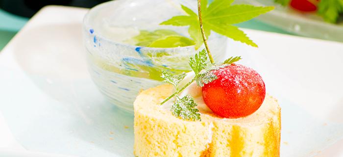 料亭 ゆう月 デザート ロールケーキ