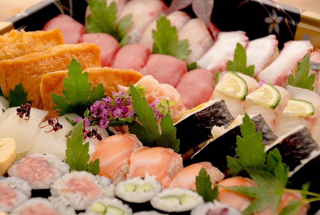 綾部の料亭 ゆう月 オードブル 寿司