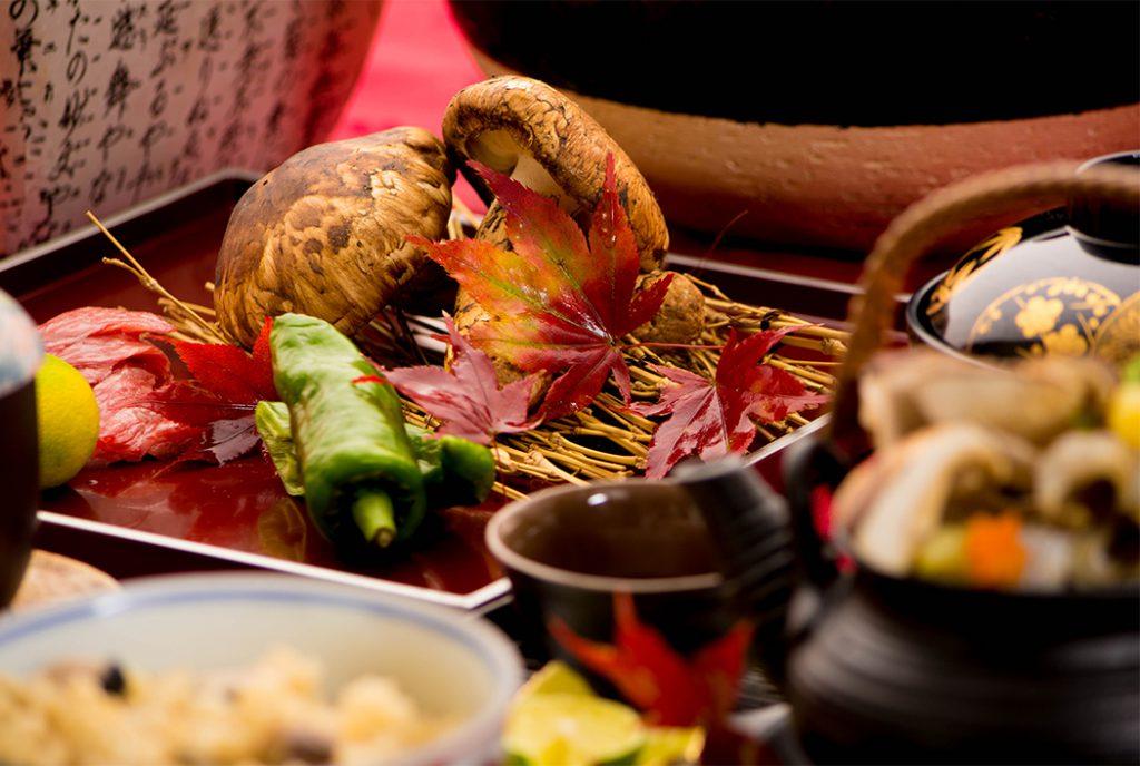 綾部の料亭 ゆう月 秋の会席 松茸 焼き松茸