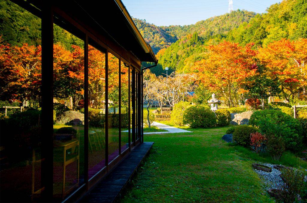 綾部の料亭 ゆう月 秋の庭園 紅葉