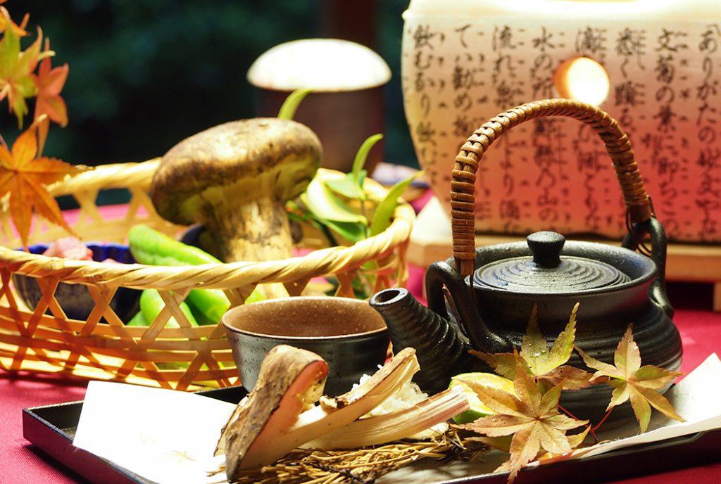 綾部の料亭 ゆう月 秋の会席 松茸 季節の会席
