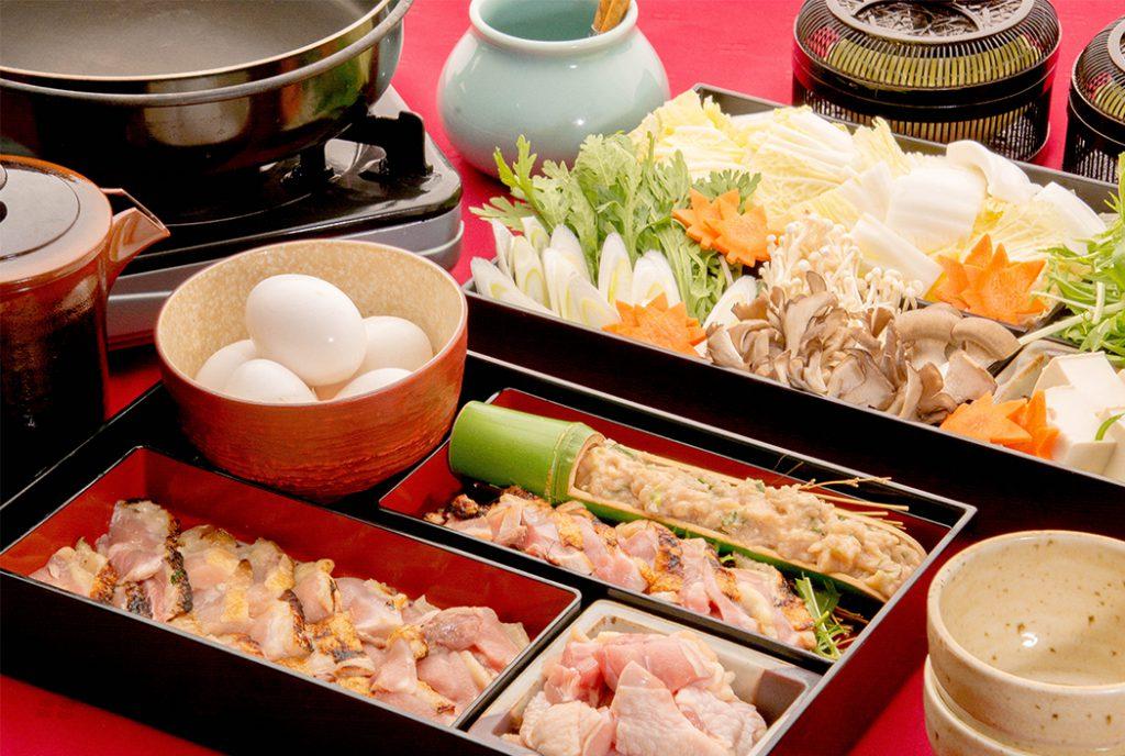 綾部の料亭 ゆう月 鍋料理 上林鶏のすき焼き 忘年会 送別会
