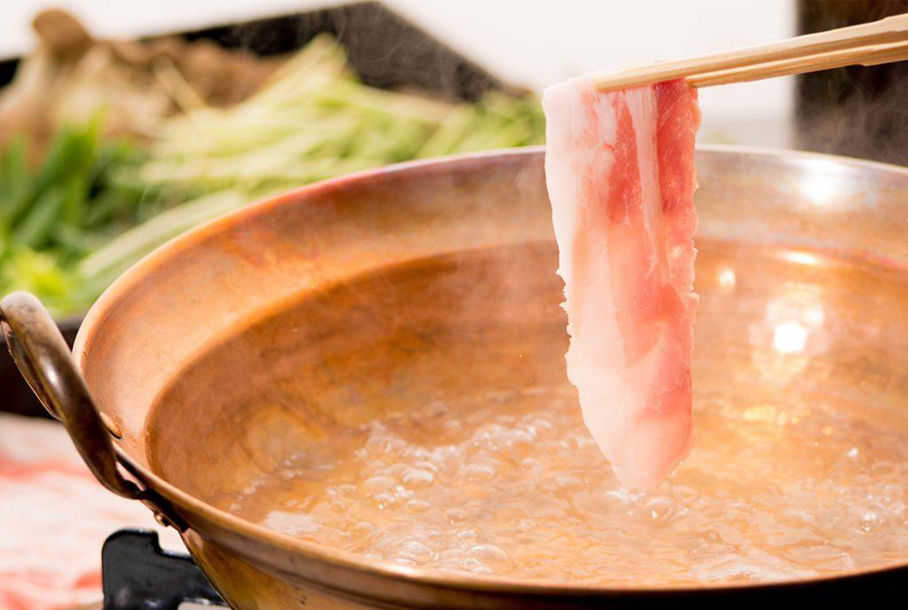 綾部の料亭 ゆう月 別館 鍋料理 団体様向け宴会料理 京丹波高原豚のしゃぶしゃぶ