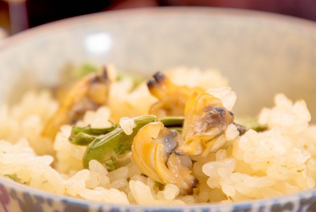 綾部の料亭 ゆう月 お花見のための春の会席料理 山菜ご飯