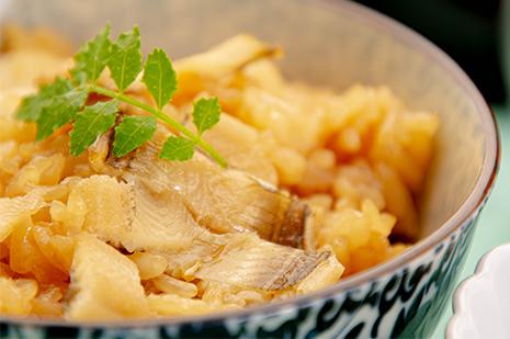 綾部の和食の店 ゆう月 夏 お盆の会席料理 穴子めし 炊き込みご飯