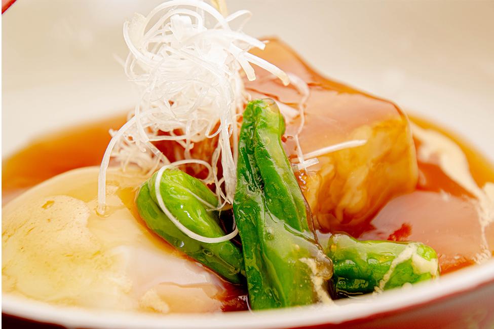 綾部の和食の店 ゆう月 夏 お盆の会席料理 京丹波高原豚 豚の角煮 温泉たまご
