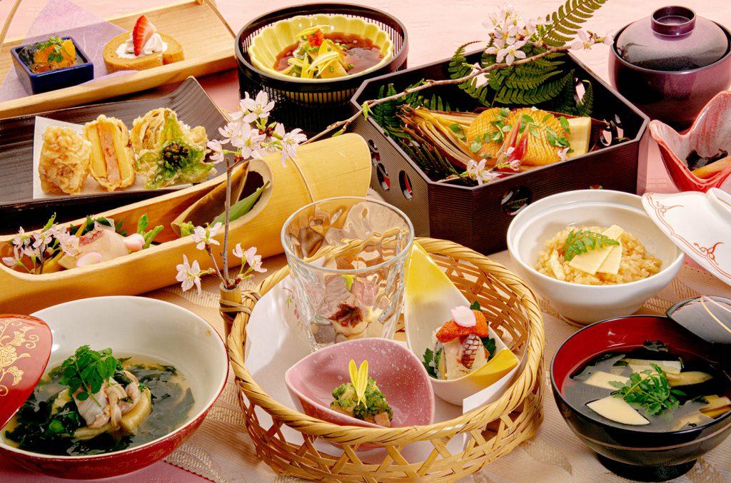 綾部の和食レストラン ゆう月の春の料理 たけのこ会席