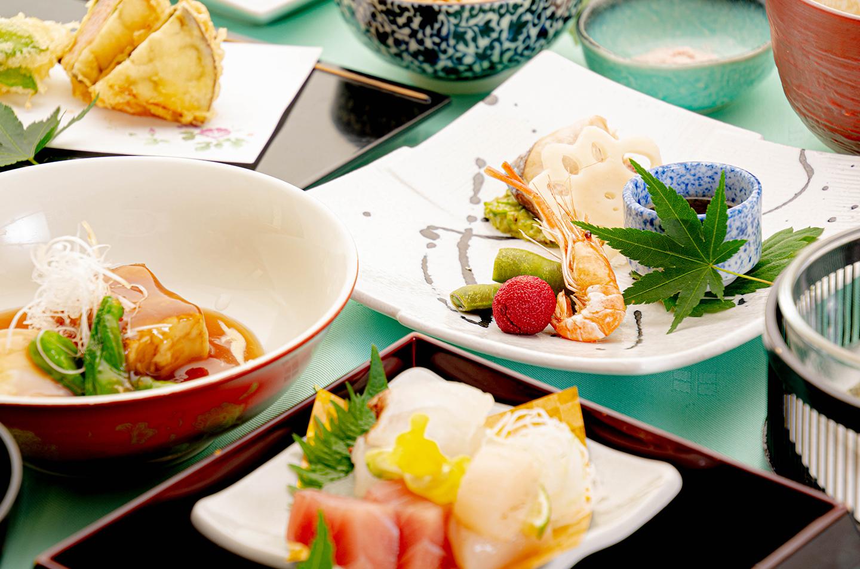 綾部の和食レストラン ゆう月の夏の会席料理