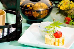 京都 綾部 和食 ゆう月 会席料理 懐石料理 法事 お祝い 祭り ロールケーキ さくらんぼ 和三盆