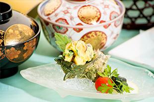 京都 綾部 和食 ゆう月 会席料理 懐石料理 法事 お祝い 祭り サザエ