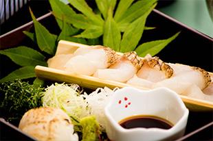 京都 綾部 和食 ゆう月 会席料理 懐石料理 法事 お祝い 祭り 鯛 熟成 ホタテ 寿司