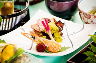 京都 綾部 和食 ゆう月 会席料理 懐石料理 法事 お祝い 祭り 万願寺甘とう 紫ずきん 黒豆 京野菜