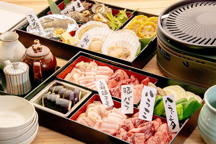 綾部市の和食レストラン ゆう月 デリバリー テイクアウト おうちでバーベキュー