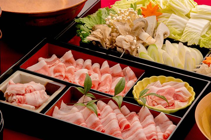 綾部の料亭 ゆう月 鍋料理 京丹波高原豚のしゃぶしゃぶ画像