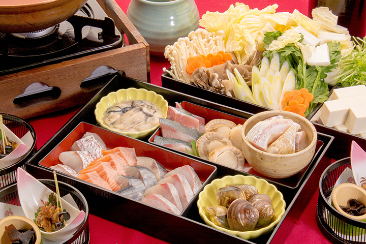 綾部の料亭 ゆう月 鍋料理 海鮮寄せ鍋画像