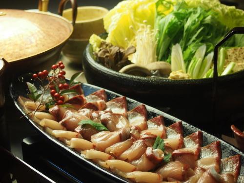 綾部の料亭 ゆう月 ぶり 鍋料理 鰤しゃぶ