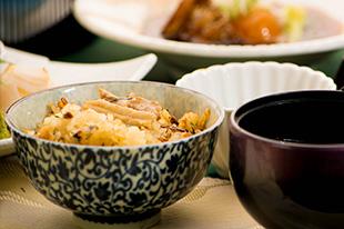 京都 綾部 ゆう月 会席料理 9月 芙蓉会席 ご飯 さんま 炊き込み御飯
