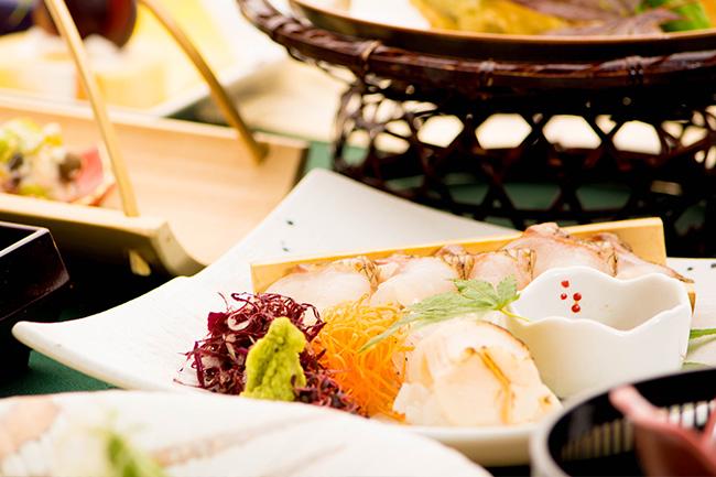 京都 綾部 ゆう月 会席料理 9月 芙蓉会席 お造り 刺身 熟成鯛 寿司