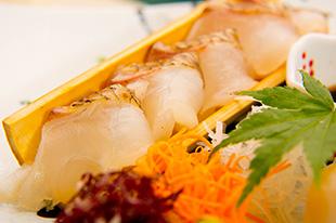 京都 綾部 ゆう月 会席料理 9月 芙蓉会席 お造り 刺身 炙り 熟成鯛 昆布締め