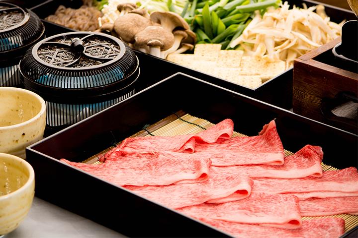 綾部の料亭 ゆう月 本館鍋料理 丹波牛のすき焼き