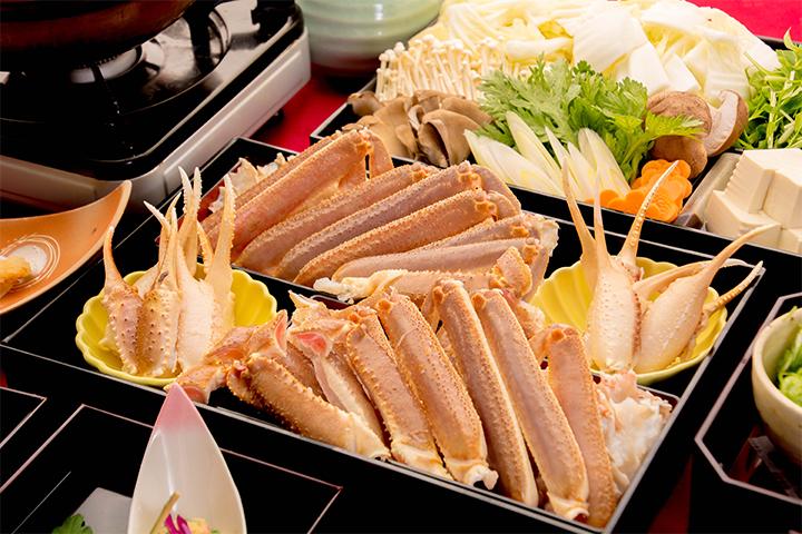 綾部の料亭 ゆう月 本館鍋料理 蟹すき鍋