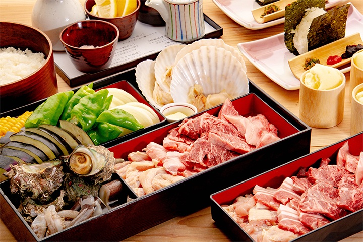 綾部のレストラン ゆう月 和食 ホタルのページのビアガーデン料理