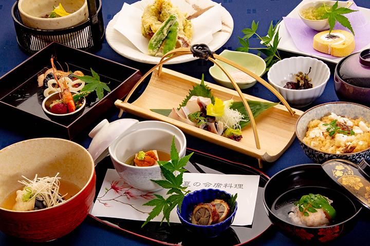 綾部のレストラン ゆう月 和食 ホタルのページの会席料理