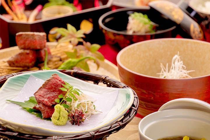 綾部のレストラン ゆう月 和食 ホタルのページの丹波牛会席