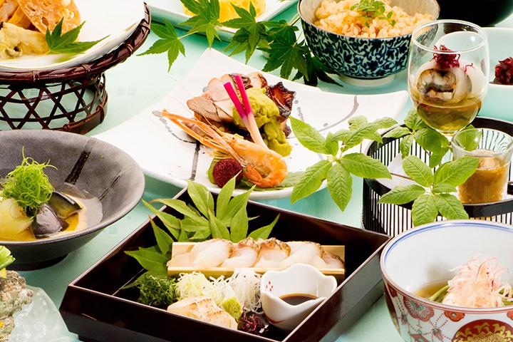 有月の法事会席 料理の画像