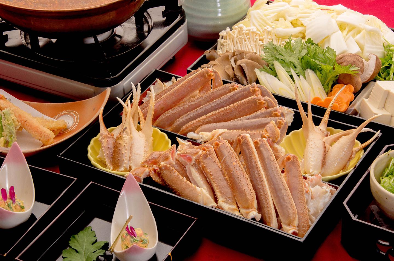綾部の料亭 ゆう月 冬の料理 お座敷で食べる鍋料理 かに鍋 松葉蟹