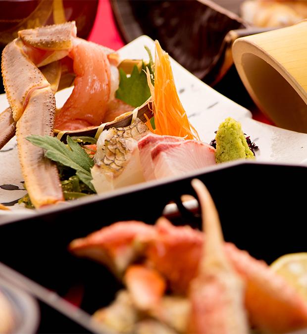 綾部の料亭 ゆう月 ズワイ蟹 松葉蟹の料理画像