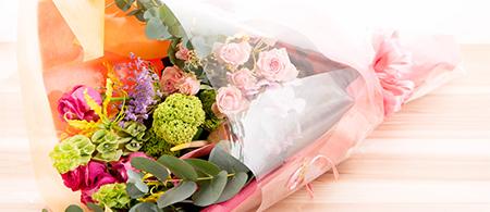 綾部の料亭 ゆう月のお祝いのプラン 花束