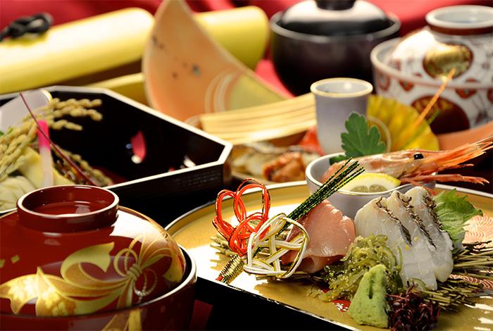 京都 綾部 和食 ゆう月 会席料理 お祝い お宮参り 還暦 花束