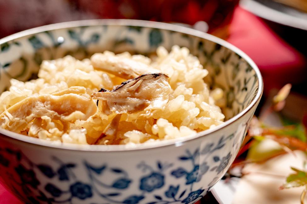 綾部市の和食レストラン ゆう月の松茸料理 松茸ごはん