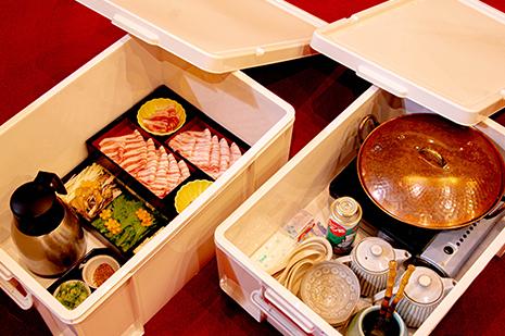 レストラン ゆう月 鍋のデリバリーのパッケージ画像
