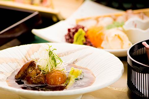 綾部 料亭 ゆう月 9月 会席料理 秋 撫子会席 煮物 豚の角煮 京丹波高原豚