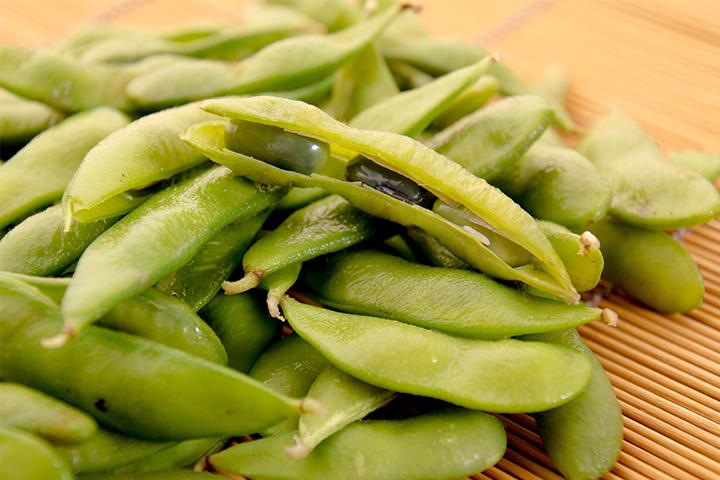 綾部の料亭 ゆう月 夏の素材 黒豆の枝豆