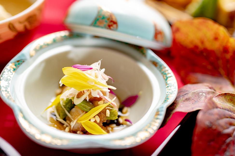 綾部市の和食レストラン ゆう月の秋の会席料理 みぞれ酢