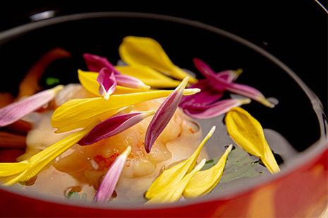 綾部の料亭 ゆう月 秋の会席料理のページ 和食料理の煮物椀 海老しんじょう