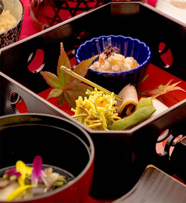 綾部の料亭 ゆう月 秋のお食事 和食 紅葉シーズン向け