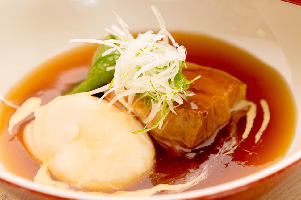 綾部の料亭 ゆう月 秋のお食事 和食 豚の角煮