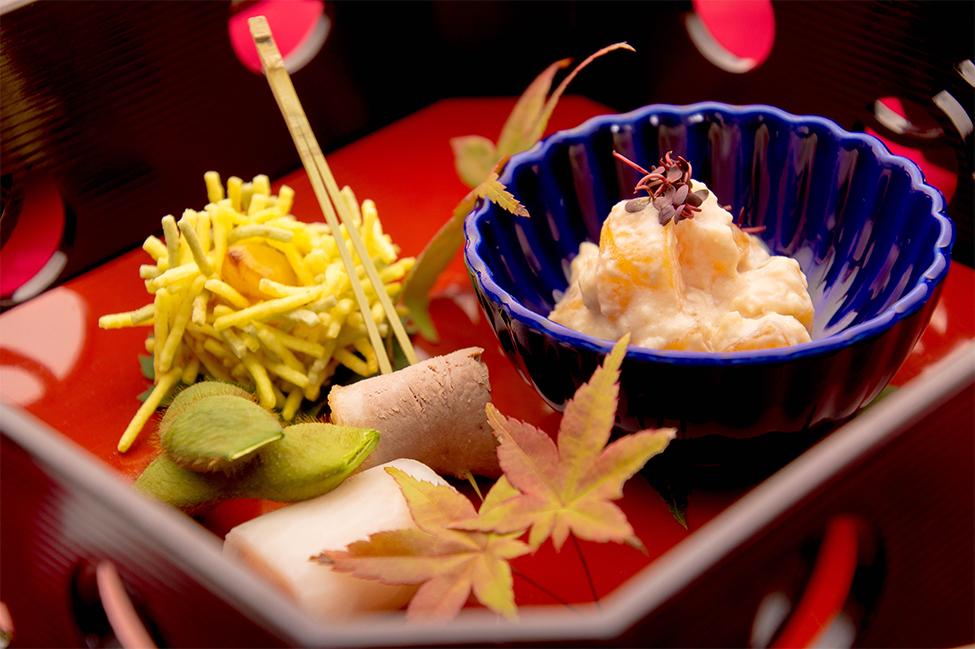 綾部の料亭 ゆう月 秋のお食事 和食 柿